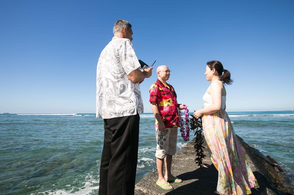 夫婦一緒にバウリニューアルをハワイで