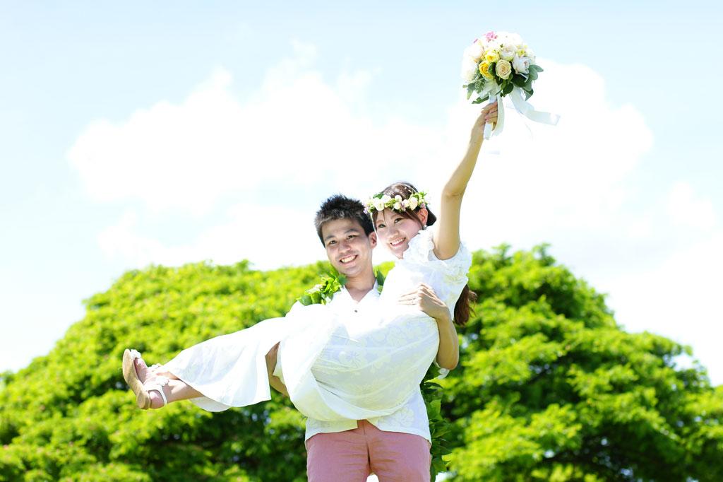 結婚3周年記念のバウリニューアルをハワイで