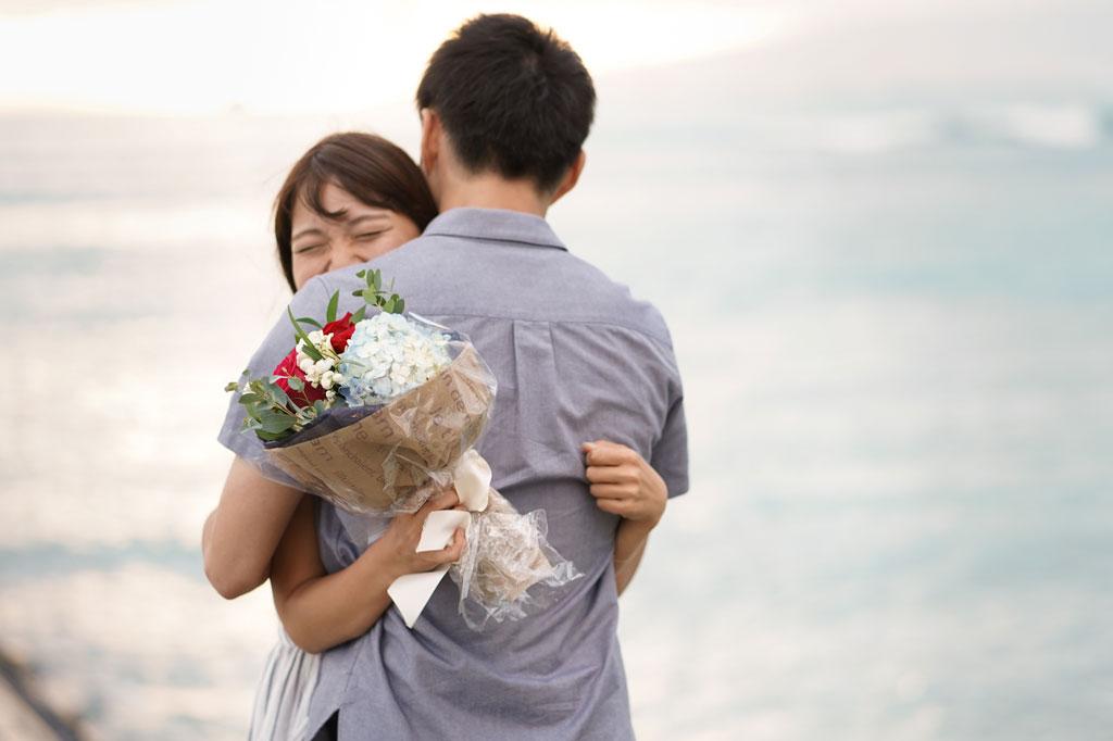 彼女が喜ぶハワイプロポーズになったことが1番嬉しい
