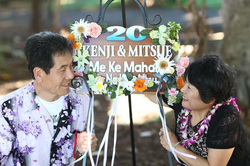 結婚20周年をフルオーダーのサインボードでお祝い