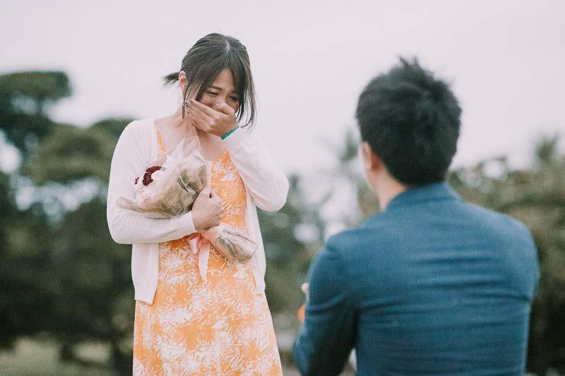 嬉しい涙が見られるハワイのプロポーズ