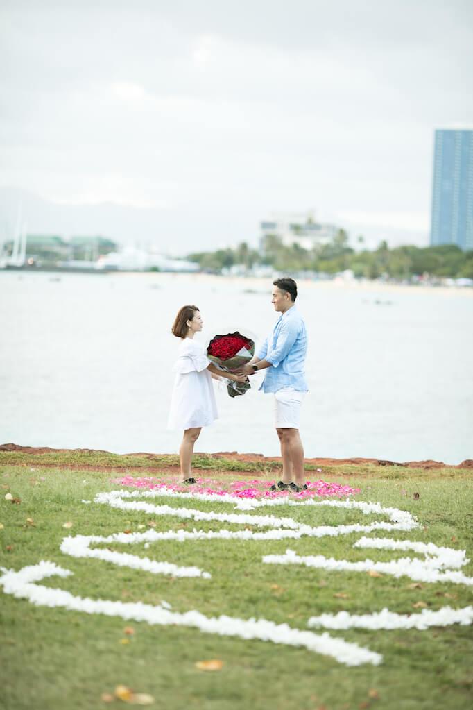 サプライズ大好きな彼女のために、こだわったハワイプロポーズにしたい