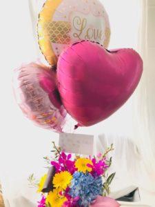 色とりどりのハワイのお花でハワイウエディングをお祝い